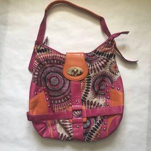 Hananel Purse Bag Shoulder Handbag Print Large
